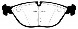 Abbildung EBC Bremsbelag DP1035