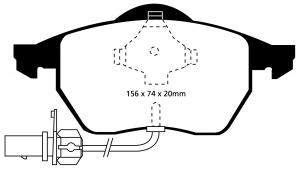 Abbildung EBC Bremsbelag DP1114