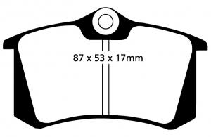 Abbildung EBC Bremsbelag DP1230