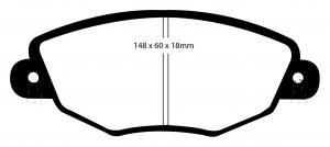 Abbildung EBC Bremsbelag DP1322