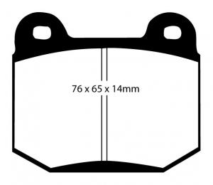 Abbildung EBC Bremsbelag DP1537
